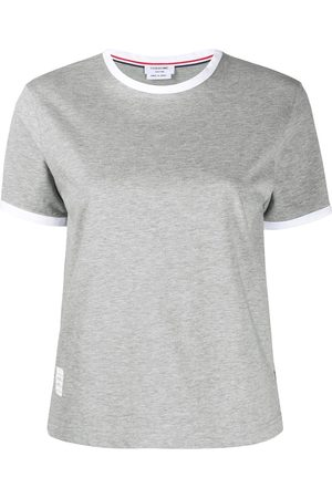 Thom Browne Jersey ringer T-shirt - Grey