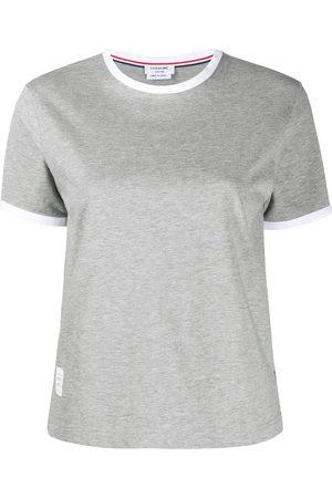 Thom Browne Step-hem short-sleeve T-shirt - Grey