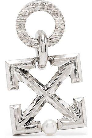 OFF-WHITE Men Earrings - Arrow-plaque drop earring