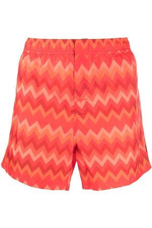 Missoni Men Swim Shorts - Zigzag-print swimming shorts