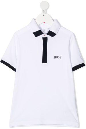 HUGO BOSS Contrast-trimmed polo shirt