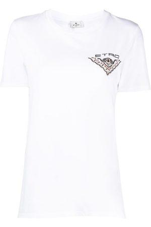Etro Women T-shirts - Embroidered back motif cotton T-shirt