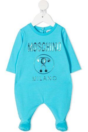 Moschino Logo print babygrow