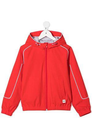 HUGO BOSS Piped-trim hooded rain jacket