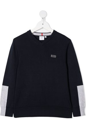 HUGO BOSS Logo-print cotton jumper
