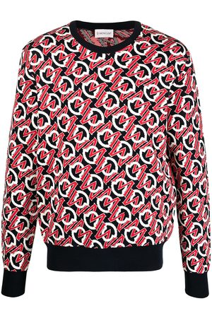 Moncler Jacquard-logo crew-neck jumper