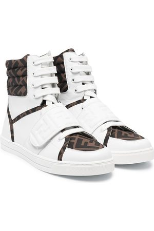 Fendi Sneakers - TEEN FF-print high-top sneakers