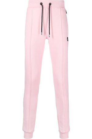Philipp Plein Skinny-fit track pants with logo patch