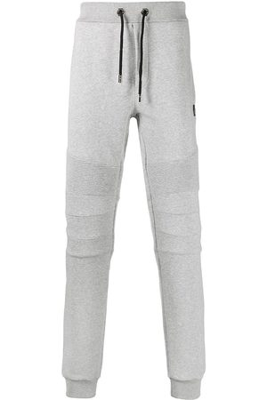 Philipp Plein Logo drawstring tracksuit bottoms - Grey