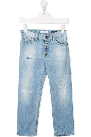 DONDUP KIDS Mid-rise slim-fit jeans