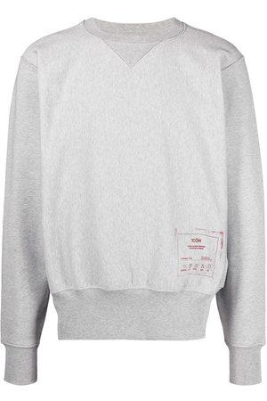 Maison Margiela 1côn print crew neck sweatshirt - Grey