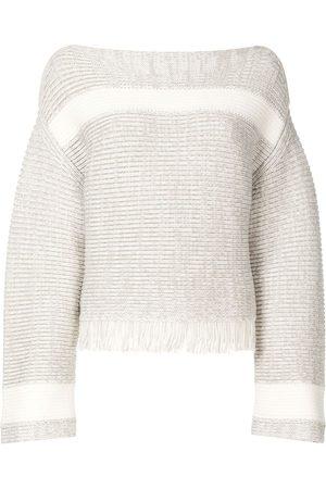PROENZA SCHOULER WHITE LABEL Women Sweaters - Panel detail knitted jumper - Grey