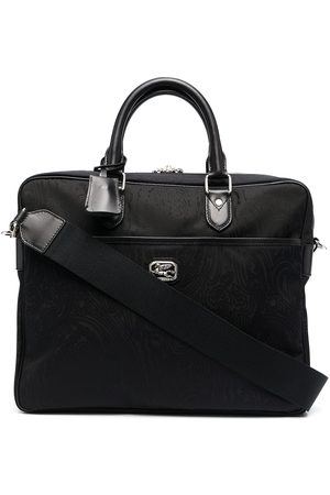 Etro Men Laptop Bags - Paisley-print laptop bag