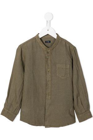 Il gufo Long-sleeve linen shirt