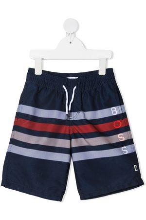 HUGO BOSS Boys Swim Shorts - Surfer striped swim shorts