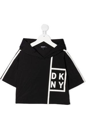 DKNY Logo short-sleeve hoodie
