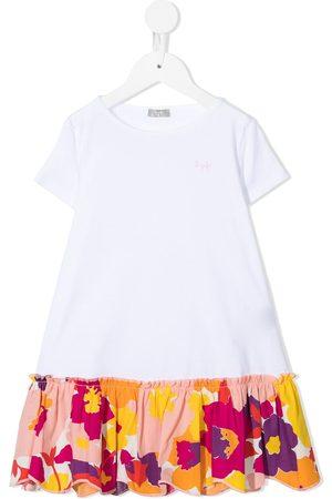 Il gufo Contrast-hem t-shirt dress