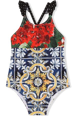 Dolce & Gabbana Baby Swimsuits - Mixed-print swimsuit