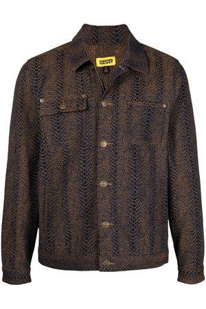 Chinatown Market Women Denim Jackets - Snakeskin-effect box jacket