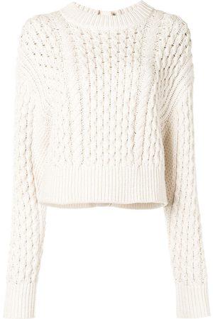 PROENZA SCHOULER WHITE LABEL Cable knit buttoned jumper - Neutrals