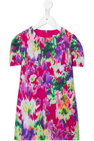 Msgm Girls Printed Dresses - Tie dye print dress