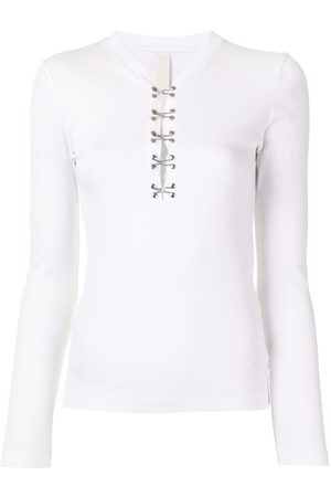 DION LEE Hook-detail long sleeve top