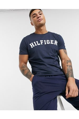 Tommy Hilfiger Logo crew lounge t-shirt in navy
