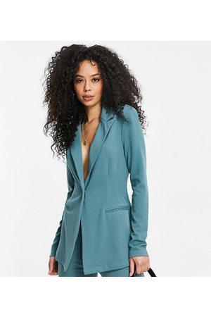 ASOS ASOS DESIGN Tall jersey single breasted suit blazer in sage