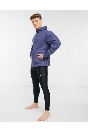 Nike Nike Yoga Restore fleece hoodie in navy