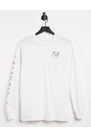 Rip N Dip RIPNDIP Lord Nermal Pocket long sleeve t-shirt in