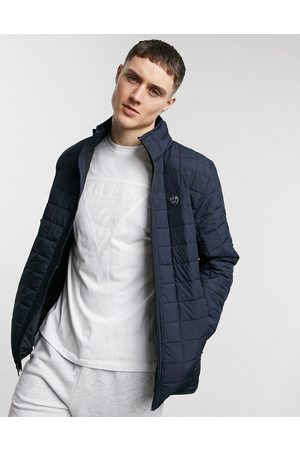 Guess Padded jacket with small logo in navy