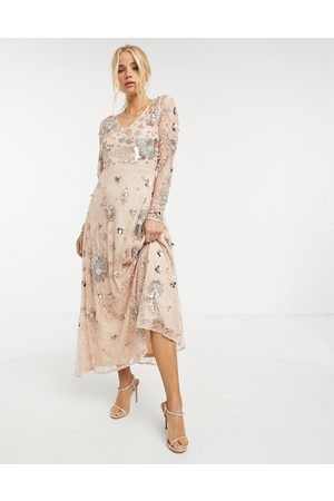 Frock and Frill All-over fairytale embellished maxi dress in multi