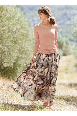Peruvian Connection Women Maxi Skirts - Brushstrokes Maxi-Skirt
