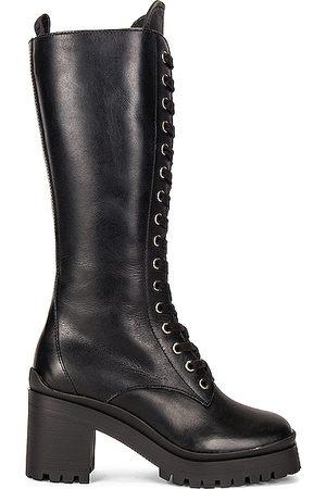 Miu Miu Lace Up Boots in