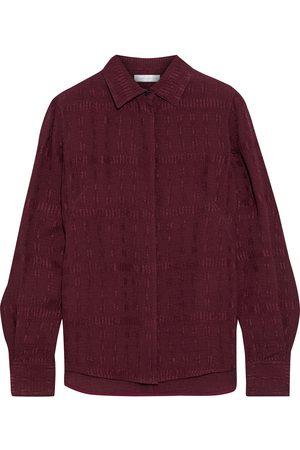 Victoria Beckham Women Long sleeves - Woman Cloqué Shirt Burgundy Size 10