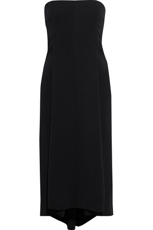 Victoria Beckham Woman Strapless Sequined Tulle-paneled Crepe Midi Dress Size 10