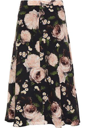 Erdem Woman Maury Floral-print Silk Crepe De Chine Skirt Size 10