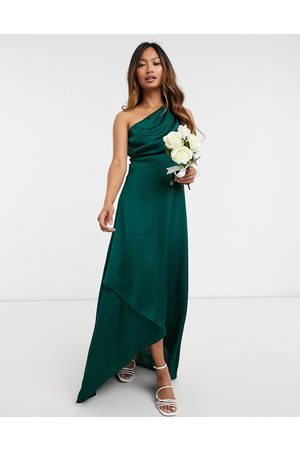TFNC Bridesmaid one shoulder maxi dress in