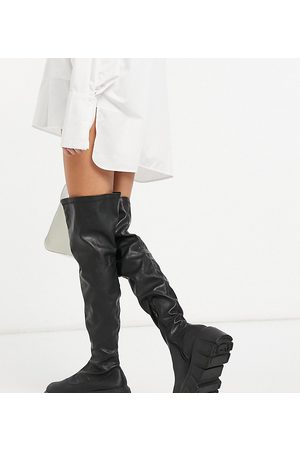 Public Desire Lingo chunky over the knee boots in