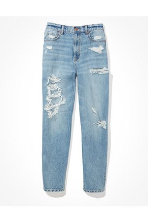 American Eagle Outfitters Ripped Relaxed Mom Jean Women's 22 Long