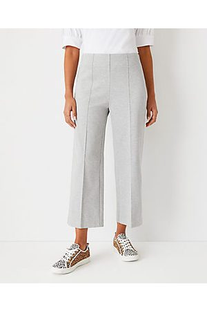ANN TAYLOR The Side Zip Wide Leg Crop Pant