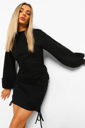 Boohoo Womens Ruched Side Sweater Dress - - S