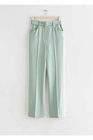 & OTHER STORIES Tailored Belted High Waist Trousers