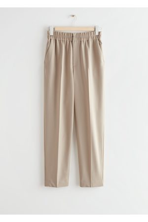 & OTHER STORIES Tapered Elasticated Waist Trousers