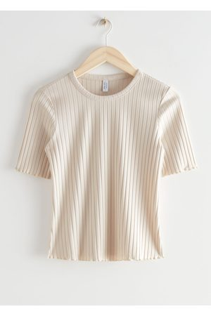 & OTHER STORIES Fitted Rib T-Shirt