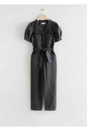 & OTHER STORIES Relaxed Belted Puff Sleeve Jumpsuit