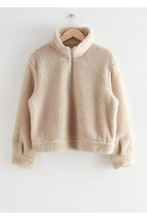 & OTHER STORIES Faux Shearling Half-Zip Sweater