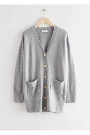 & OTHER STORIES Relaxed Long Knit Cardigan - Grey