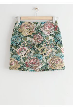 & OTHER STORIES Floral Jacquard Mini Skirt