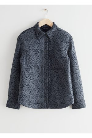 & OTHER STORIES Oversized Cropped Jacquard Overshirt